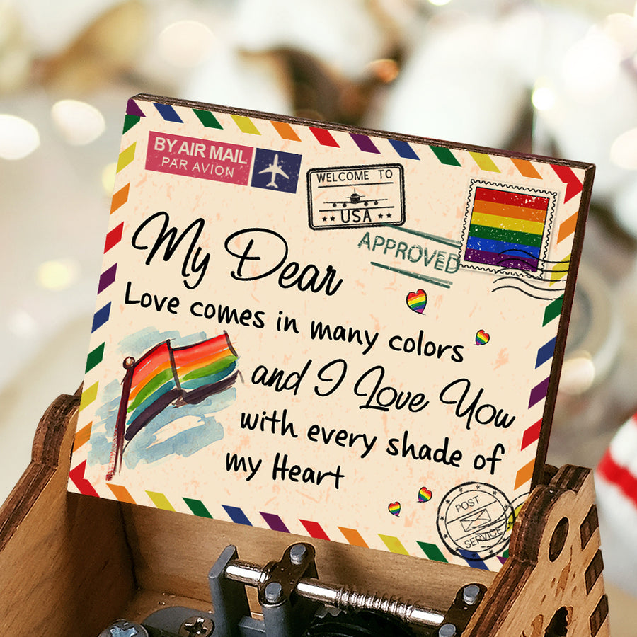 To My Dear - Love comes in many colors - Music Box Color