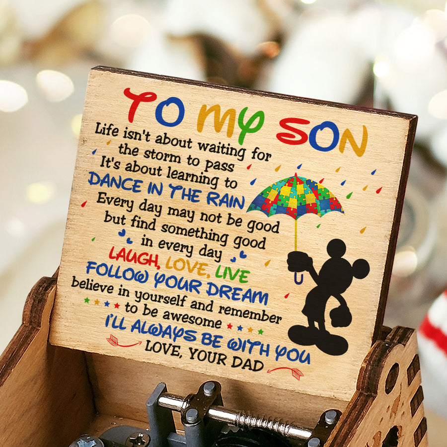 Dad To Son - Remember to be awesome - Music Box Color