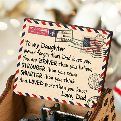 Dad To Daughter - Dad Loves You - Music Box Color