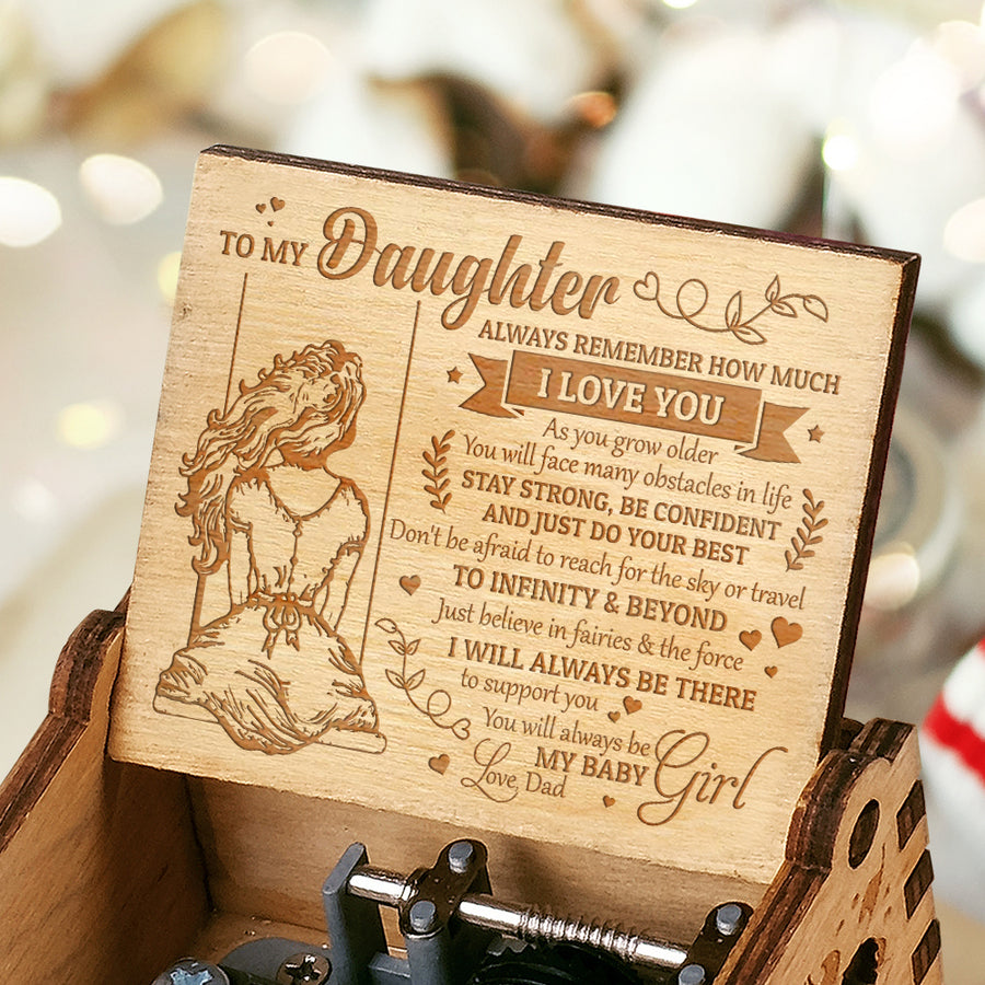 Dad to Daughter - JUST BELIEVE IN FAIRIES AND THE FORCE - ENGRAVED MUSIC BOX