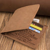 Mom To Son - My Love Will Follow You Wherever You Go - Bifold Wallet