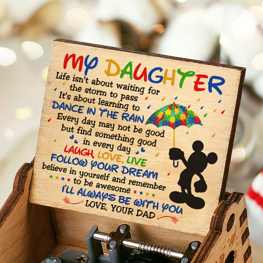 Dad To Daughter - Remember to be awesome - Music Box Color