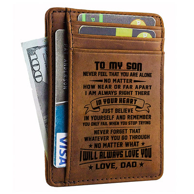 Card Wallet - Son, Dad Will Always Love You