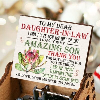 To My Daughter-In-Law - I Gave You My Amazing Son - Colorful Music Box