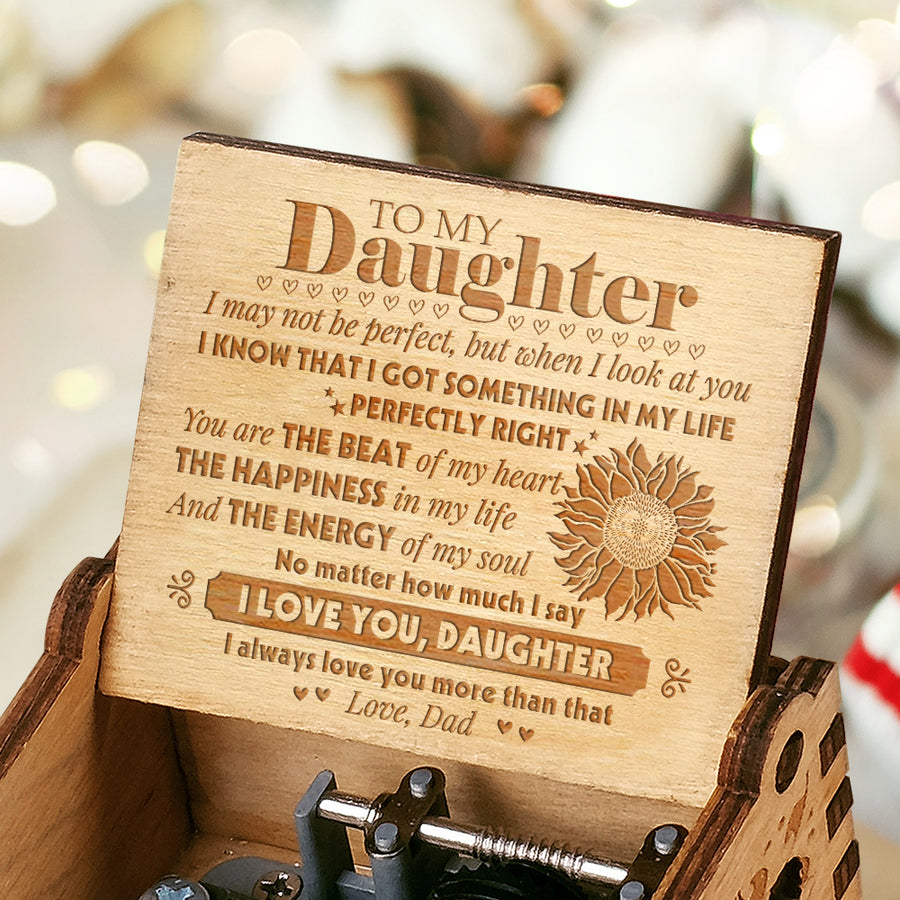 Dad to Daughter - You Are The Beat Of My Heart - Engraved Music Box