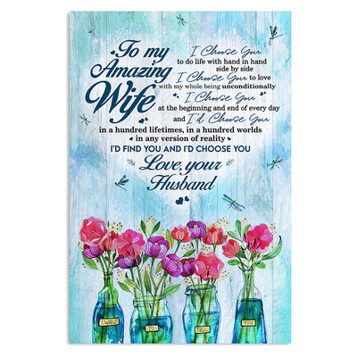 Husband To Wife - Hand In Hand Side By Side - Vertical Matte Posters