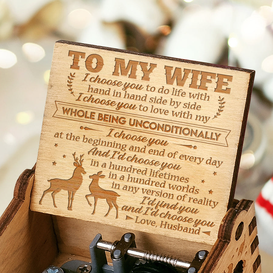 Husband To Wife - I'd find you - Engraved Music Box