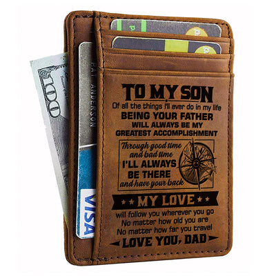 Dad to Son - My Love Will Follow You Wherever You Go - Card Wallet