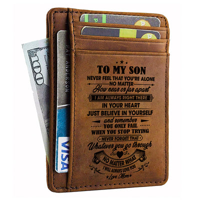 Mom To Son - I Will Always Love You - Card Wallet
