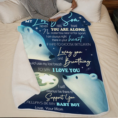 Mom To Son - I Will Always Be There - Blanket