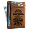 Dad To Son - Just Go Forth And Aim For The Skies - Card Wallet