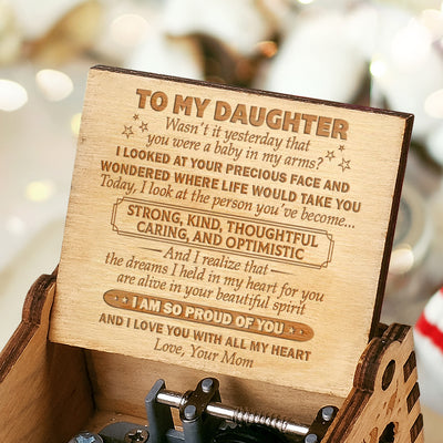 Mom to Daughter - I Love You With All My Heart - Engraved Music Box