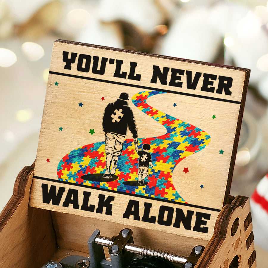Dad To Son - You'll Never Walk Alone - Music Box Color