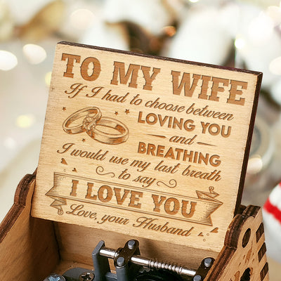 Husband To Wife - I Love You - Engraved Music Box