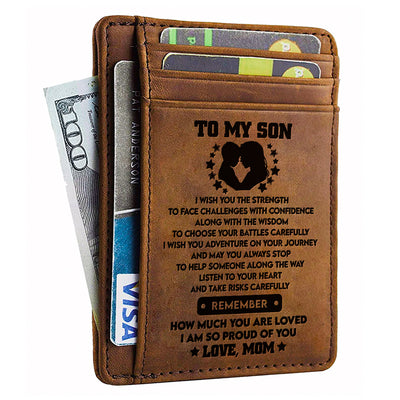Mom To Son - I Wish You The Strength - Card Wallet