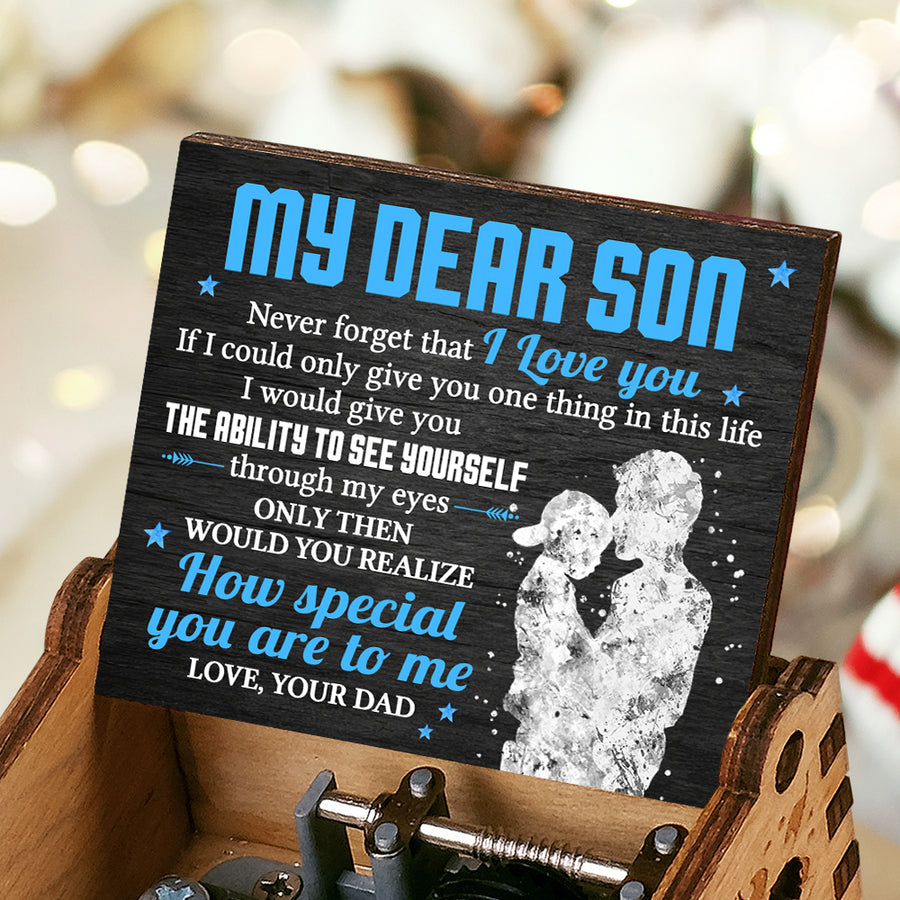 Dad To Son - Never forget that I Love You - Music Box Color