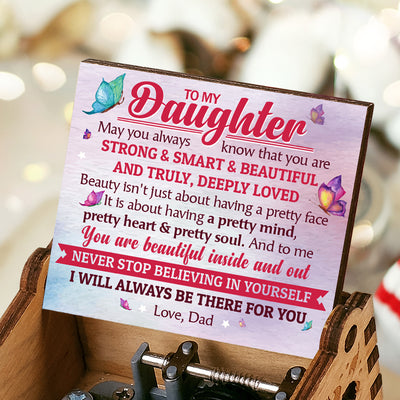 Dad To Daughter - You Will Always Be My Baby Girl - Colorful Music Box