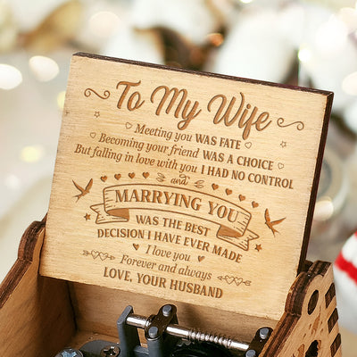 To My Wife - I Love You Forever And Always - Engraved Music Box