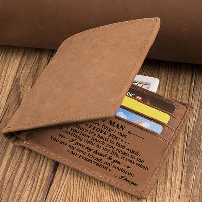 To My Man - You Are My Everything - Bifold Wallet