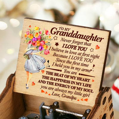 Grandpa to Granddaughter - You Are Always My Little Girl - Colorful Music Box
