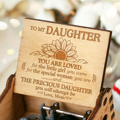 Mom to Daughter - You Are Loved - Engraved Music Box