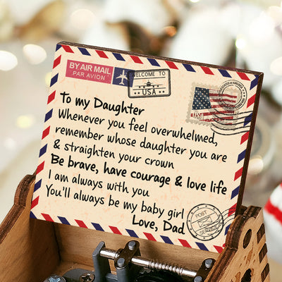 Dad To Daughter - Straighten Your Crown - Colorful Music Box