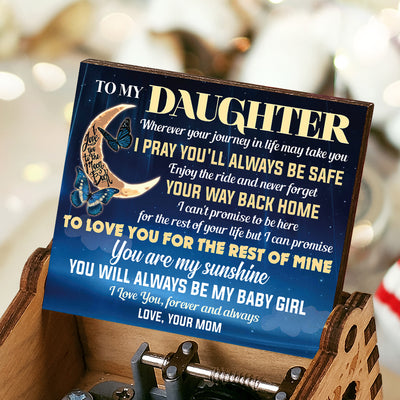 Mom To Daughter - You Will Always Be My Baby Girl - Colorful Music Box
