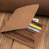 To My Husband - I Love You Always, With My Whole Heart - Bifold Wallet