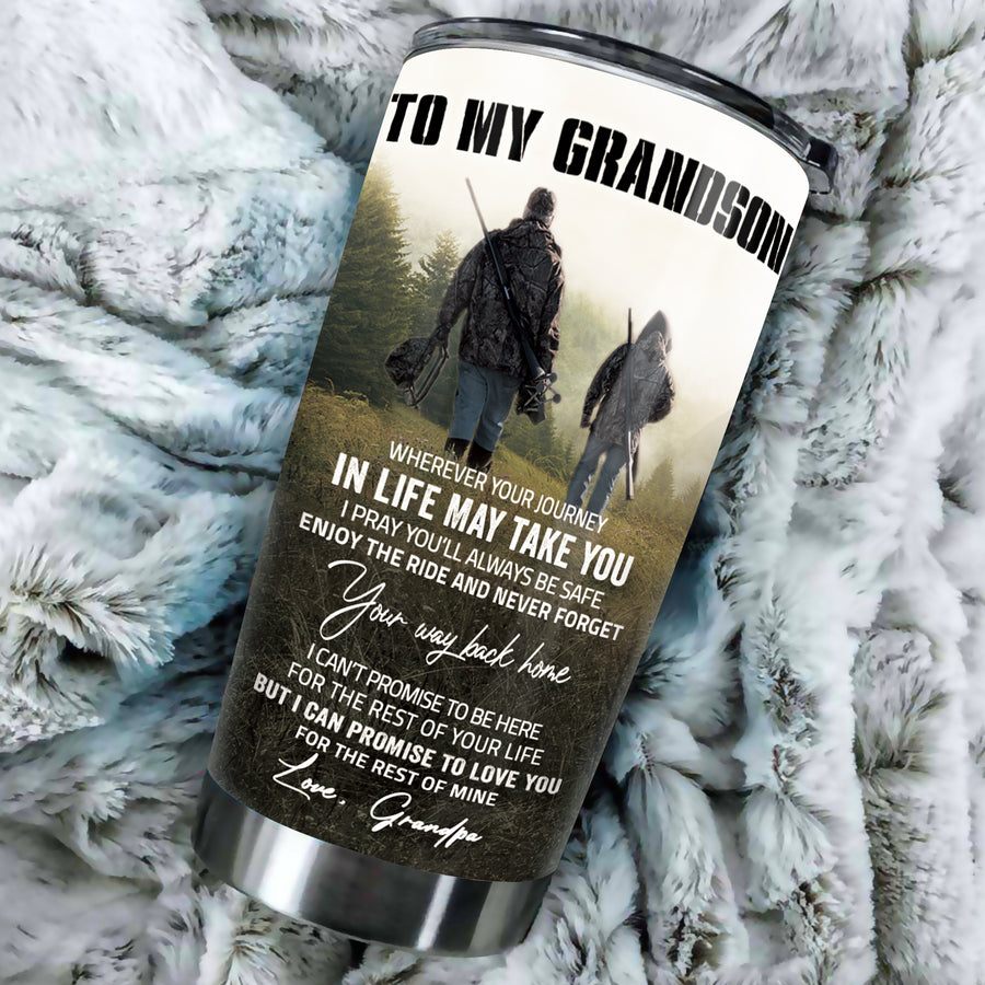 To My Grandson - Hunting Partners - Tumbler