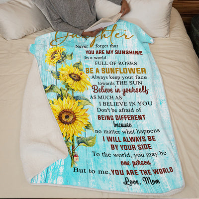 Mother To Daughter - Be A Sunflower - Blanket
