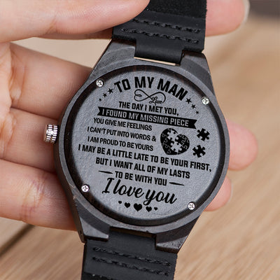 Wife To Husband - I'm Proud To Be Yours - Wooden Watch
