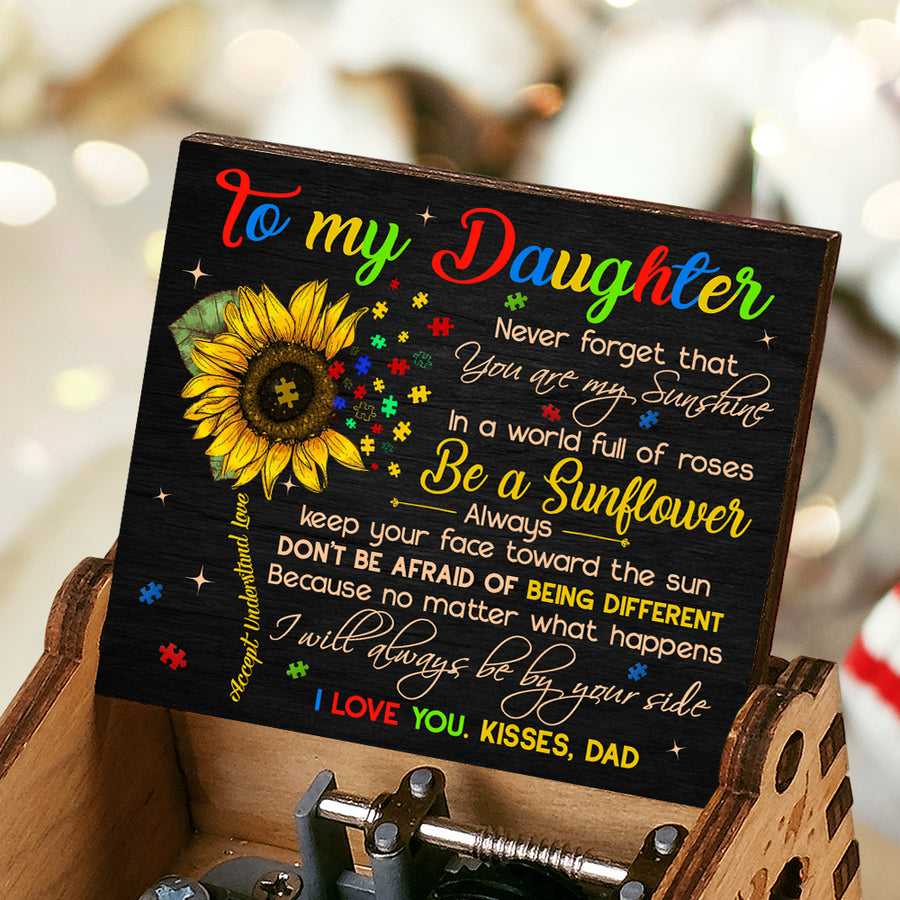 Dad To Daughter - I will always be by your side - Music Box Color