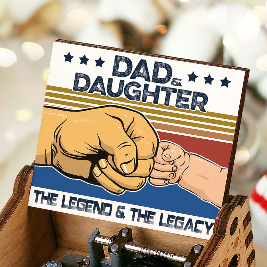 Dad And Daughter - The Legend And The Legacy - Music Box