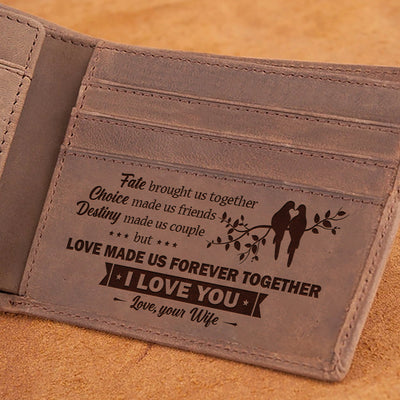 To my Husband - Destiny Made Us Couple - Wallet With Clipper