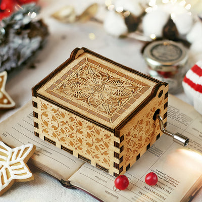 Husband And Wife - 1st Christmas Together - Personalized Music Box Color