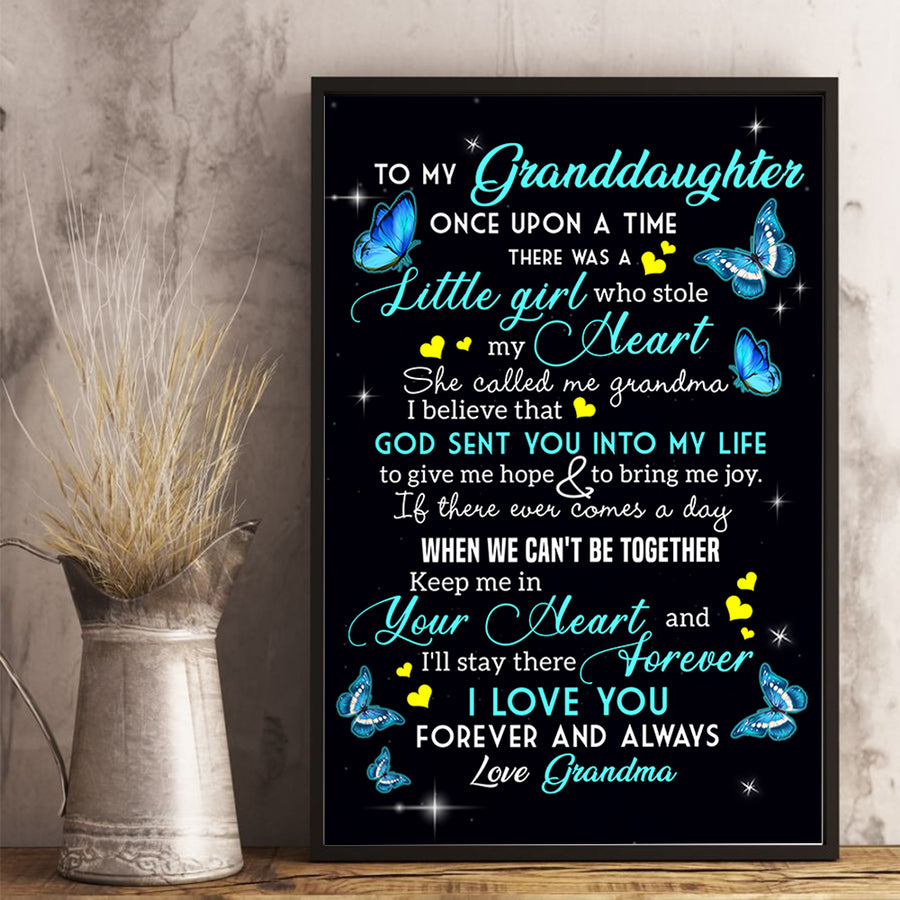 Grandma to Granddaughter - Little Girl Who Stole My Heart - Vertical Matte Posters