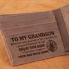 Grandma to Grandson - I Pray You'll Always Be Safe - Wallet With Clipper