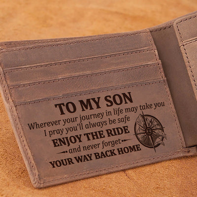 Dad To Son - I Pray You'll Always Be Safe - Wallet With Clipper