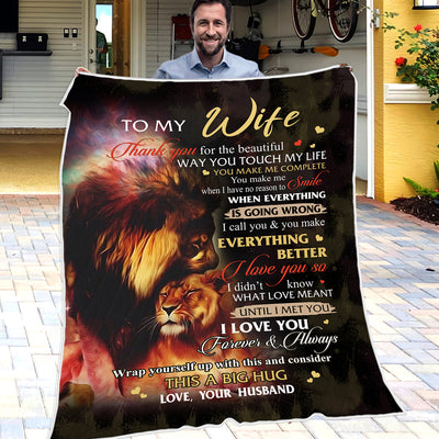 Husband To Wife - You Make Everything Better - Blanket
