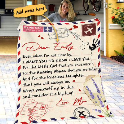 Mom To Daughter - For the amazing woman that you are today - Personalized Blanket