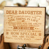 Dad To Daughter - How Special You Are To Me - Engraved Music Box