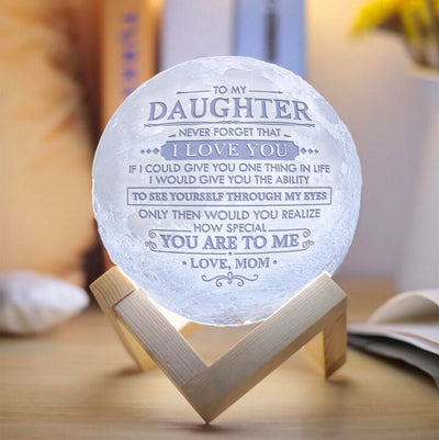 Mom To Daughter - I Love You - Moon Lamp
