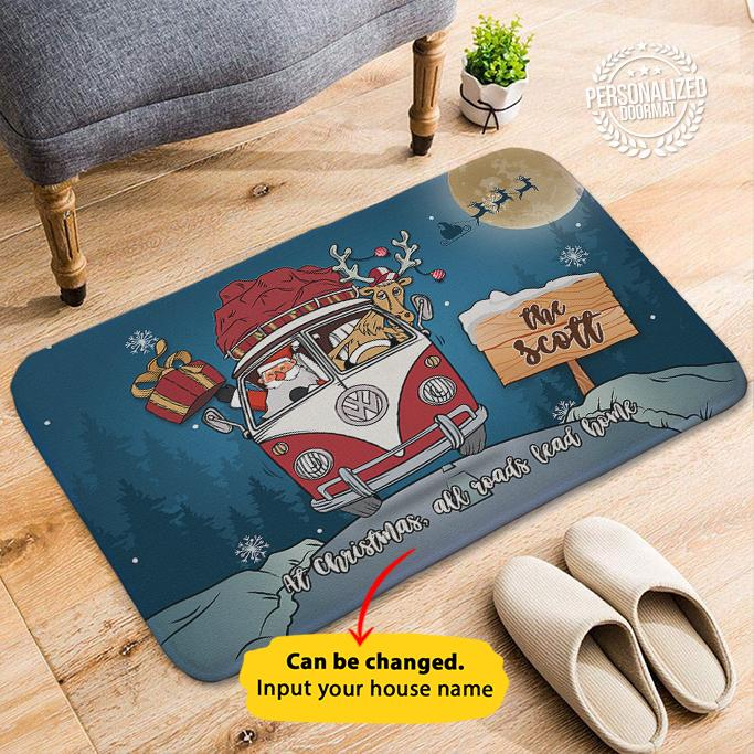 Bus Christmas - Personalized Doormat