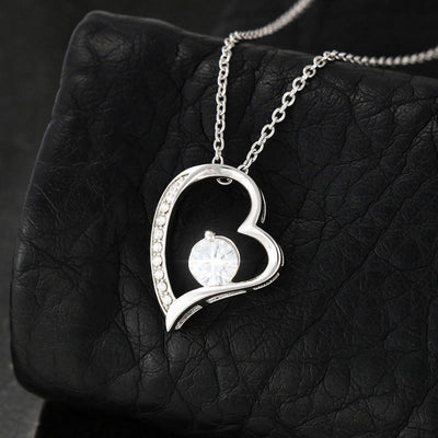 Mom To Daughter - The Best By Far Is You - Heart Stone Necklace