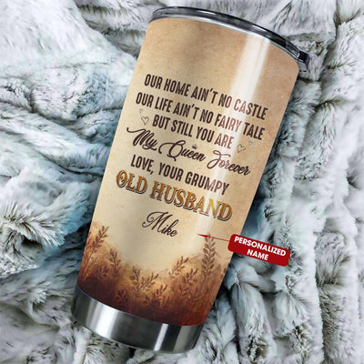 Gift For Wife - My Queen Forever - Tumbler - Personalized Name - Birthday gift, Christmas gift for wife, Best gift for your wife.