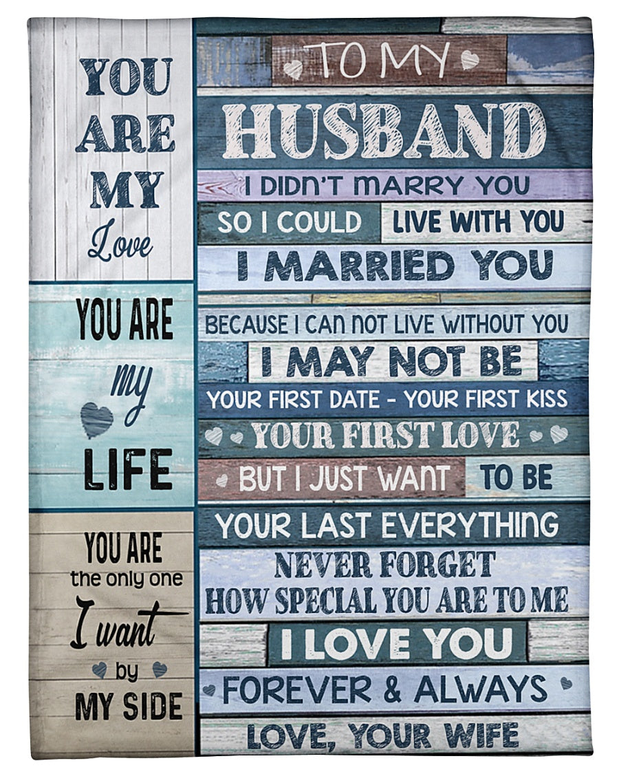 Husband And Wife - I Love You - Fleece Blanket