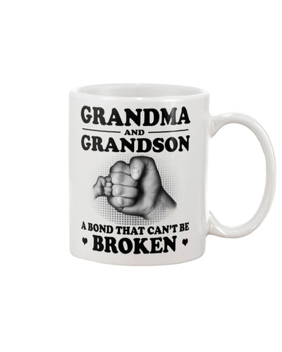 To my Grandson, A bond that can't be broken, Special gifts, Meaningful gifts, Birthday gifts from Grandma for Family members, Tee with quotes, A024 Mug