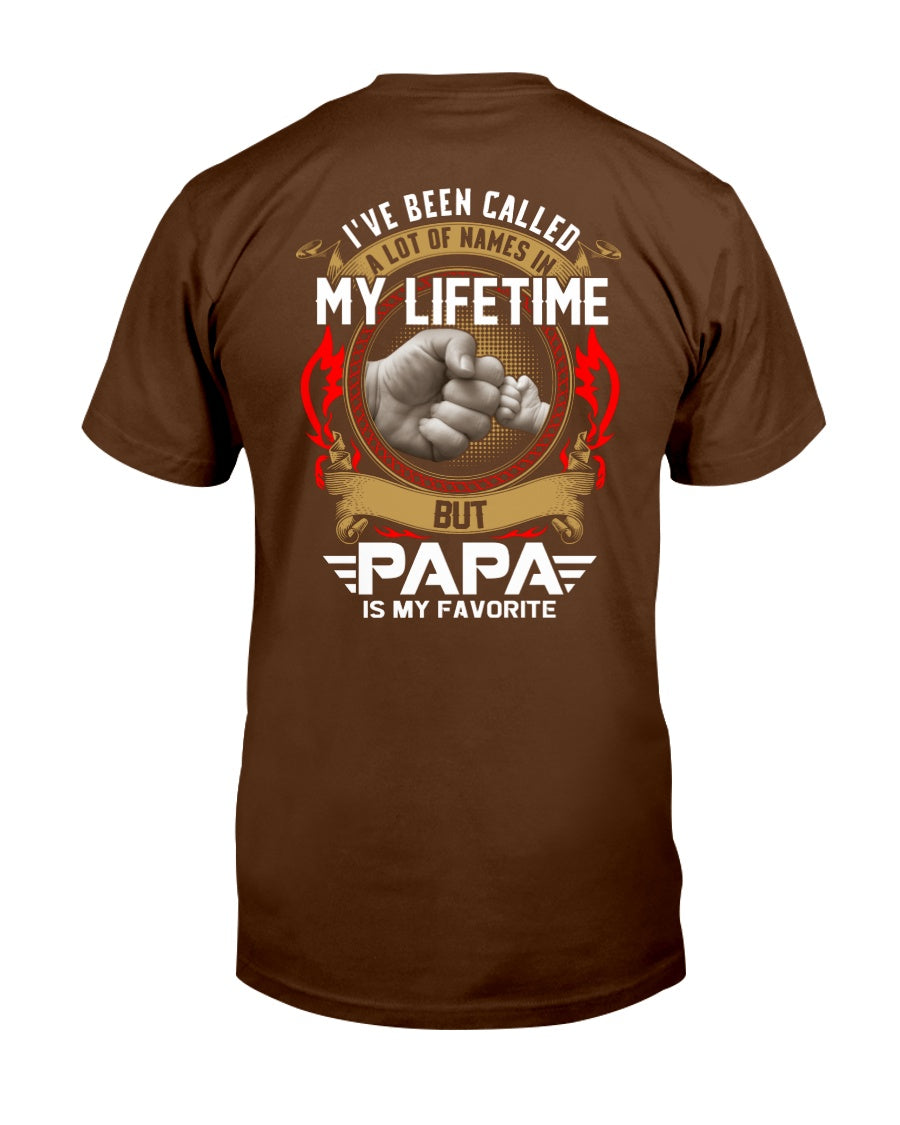 Papa Is My Favorite Title - Plus Sizes T-shirt For Dad