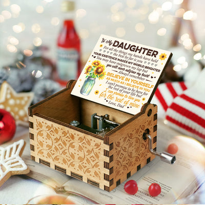 Dad To Daughter - Always Remember Believe In Yourself - Music Box Color