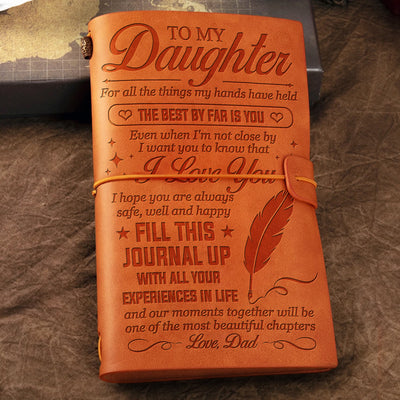 Dad To Daughter - I hope you are always safe, well and happy - Vintage Journal